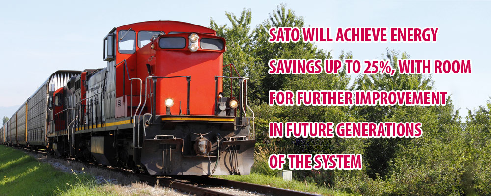 SATO will achieve energy savings up to 25%, with room for further improvement in future generations of the system